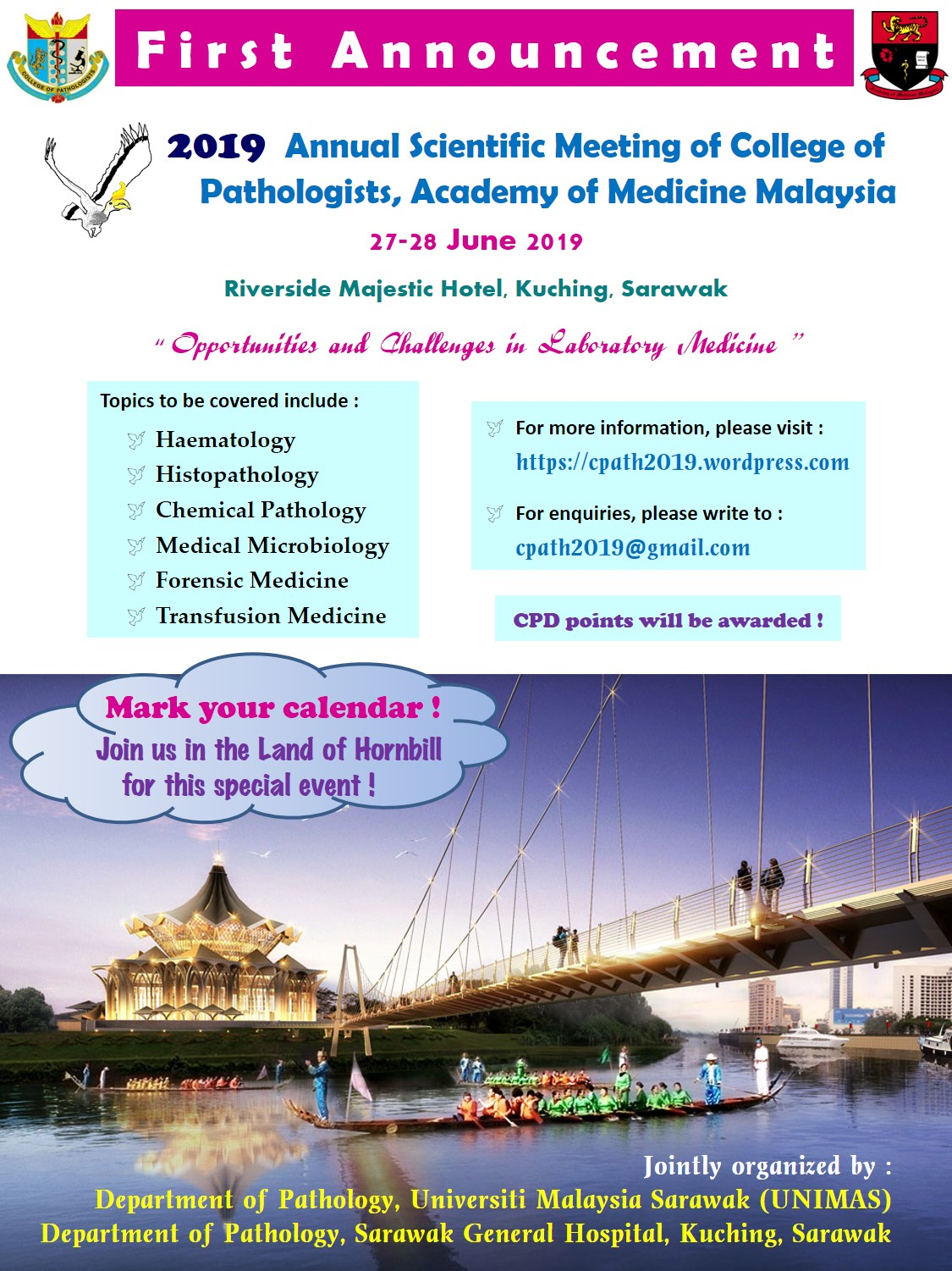 2019 Annual Scientific Meeting of College of Pathologists Academy of